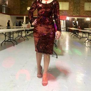 Calvin Klien Sequined Dress long sleeve